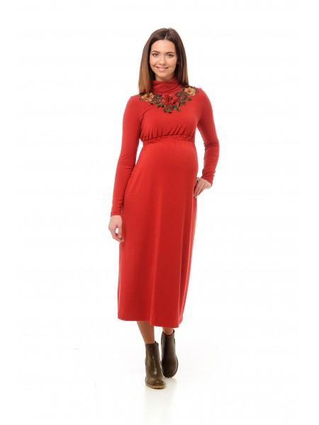 Платье для беременных с вышевкой