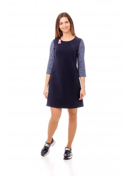 Платье синие для беременных и кормящих