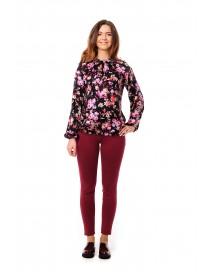 Блузка с цветочным принтом для беременных
