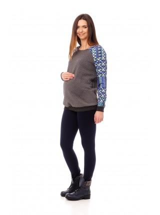 Свитшот серый для беременных