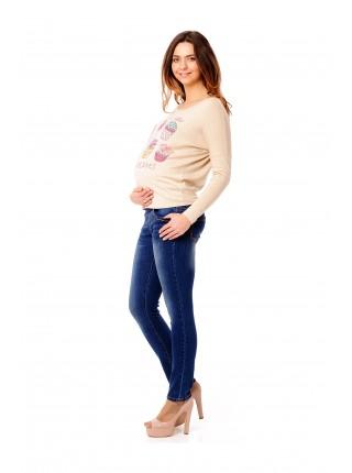 Джемпер бежевый для беременных