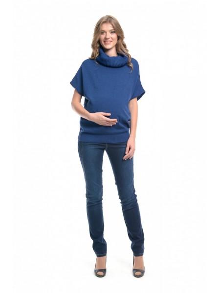 Джемпер синий для беременных NewForm