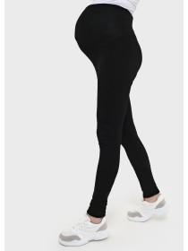 Легинсы утепленные черные для беременных