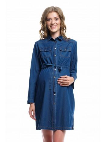 Платье джинсовое для беременных и кормящих