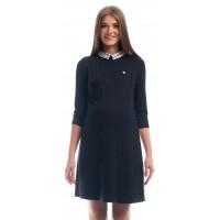 Платье комбинированное черное для беременных