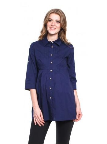 Рубашка синяя для беременных