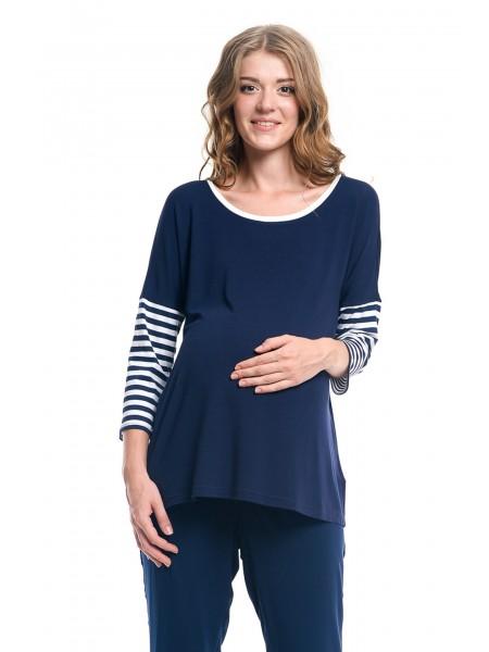 Блузка синяя для беременных