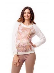 Блуза с цветочным принтом для беременных