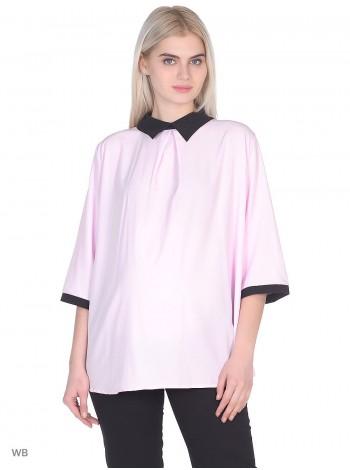 Блузка розовая для беременных