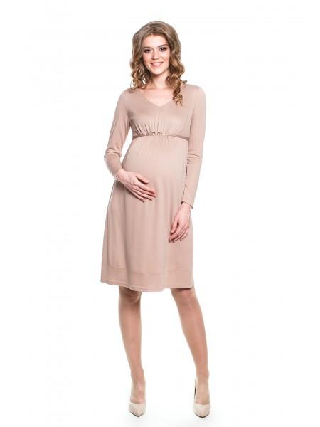 Платье бежевое для беременных