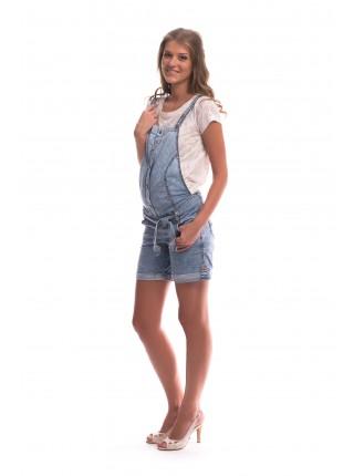 Комбинезон  джинсовый укороченный для беременных