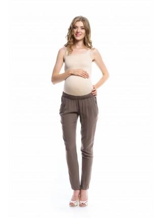 Брюки коричневые  для беременных