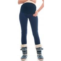 Брюки синие утепленные  для беременных