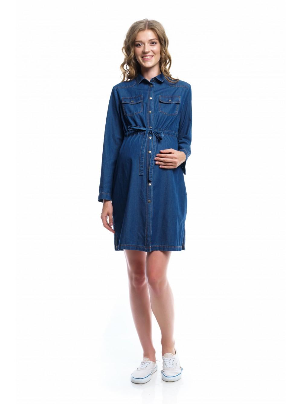 601a15c83951 Платье джинсовое для беременных и кормящих