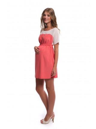 Платье коралловое для беременных