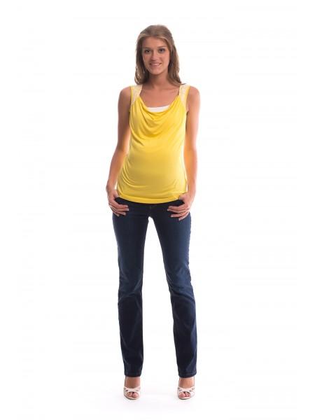 Майка желтая для беременных и кормящих