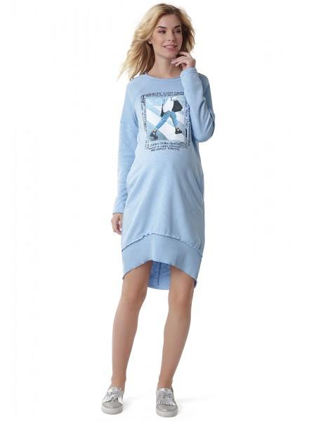 Платье голубое для беременных