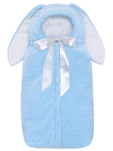 Конверт-кокон на выписку  утепленный голубой