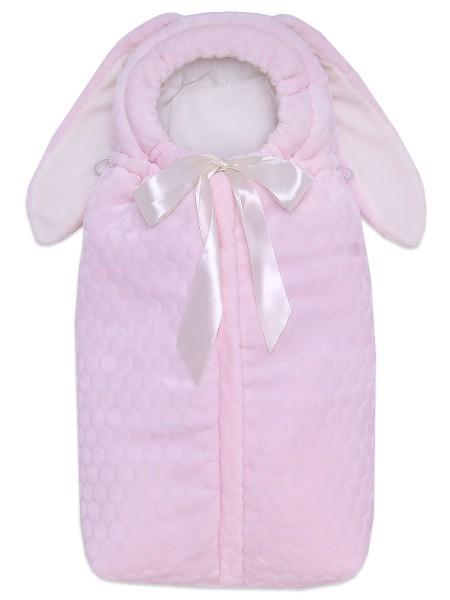 Конверт-кокон на выписку  утепленный розовый