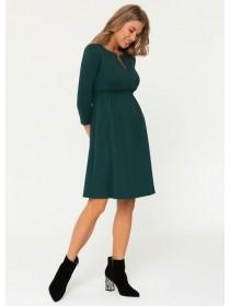 Платье зеленое  для беременных и кормящих