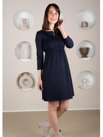 Платье синее для беременных и кормящих