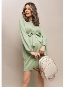 Платье зеленое  для беременных