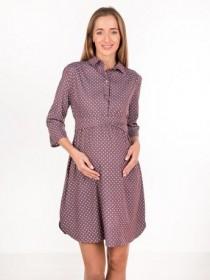 Платье в горох для беременных и кормящих