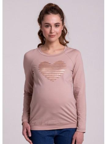 "Блузка бежевая ""сердце"" для беременных"