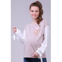 Блузка бежевая для беременных