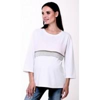 Блузка белая для беременных и  кормящих