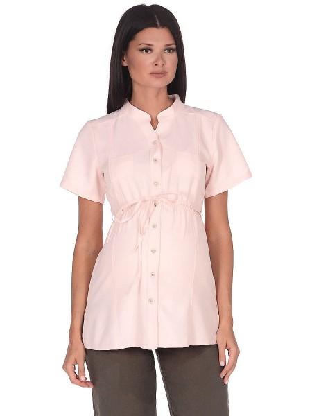 Рубашка розовая для беременных и кормящих