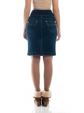 Юбка синяя джинсовая кэжуал NewForm