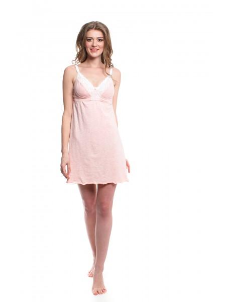 Ночная сорочка розовая для кормления NewForm