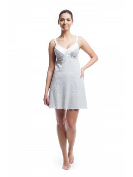 Ночная сорочка белая для кормления NewForm