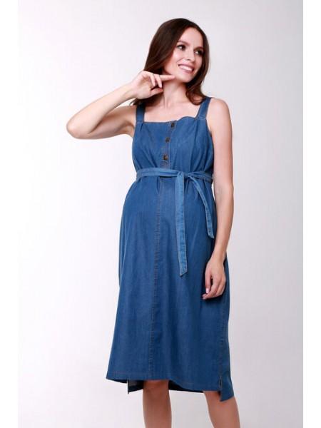 Сарафан  синий  для беременных