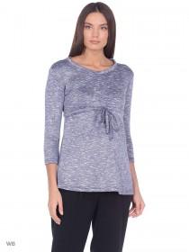Блузка синий меланж для беременных