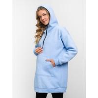 Туника теплая голубая для беременных и кормящих