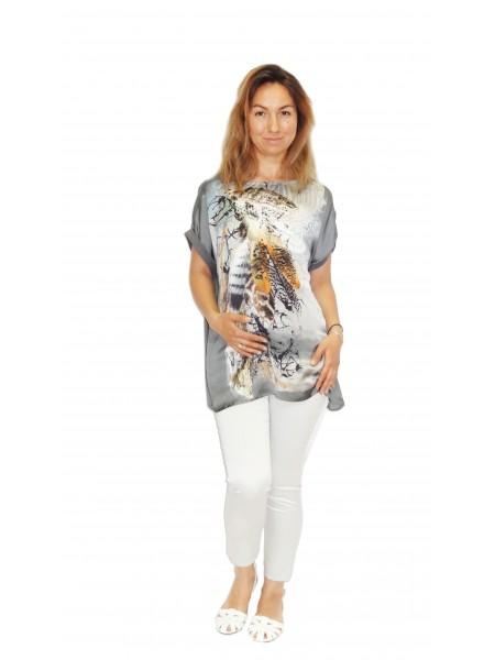 Блузка серая для беременных