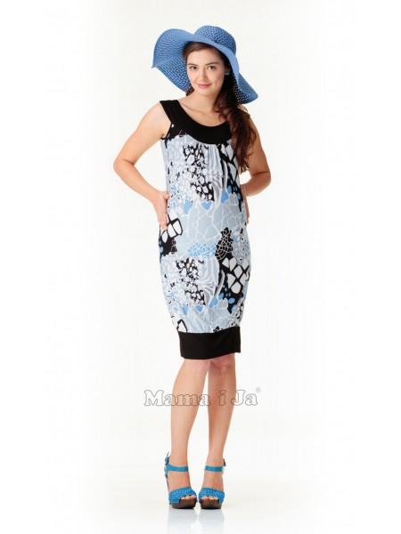 Платье комбинированное для беременных