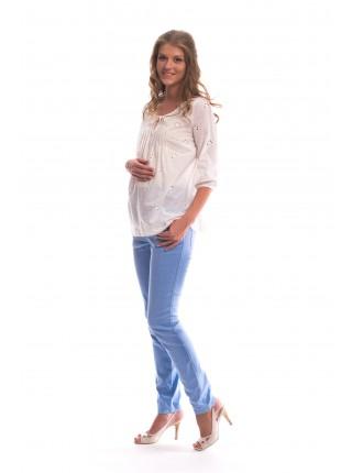 Блузка белая в этно-стиле для беременных