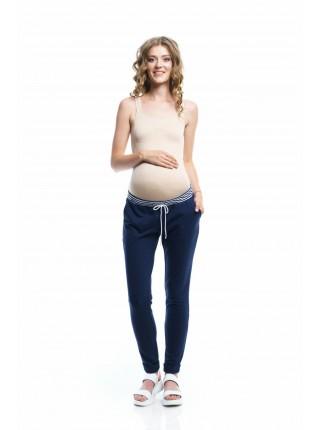 Брюки синие  для беременных