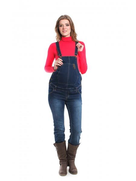 Комбинезон джинсовый с кармашком для беременных