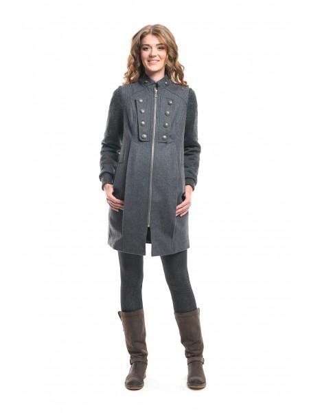 Пальто демисезонное серое Newform