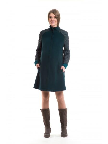 Пальто демисезонное темно-зеленое Newform