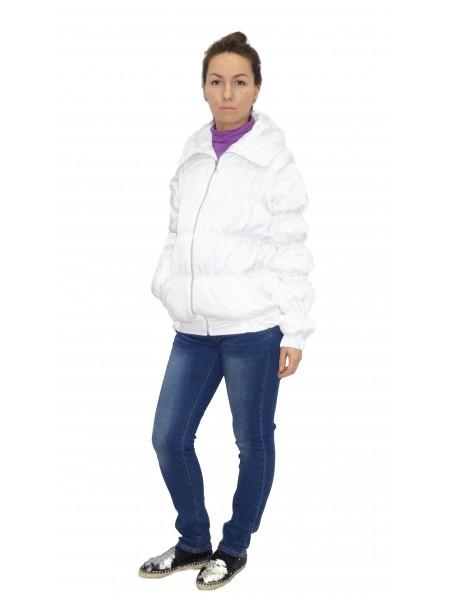 Куртка демисезонная белая трансформер