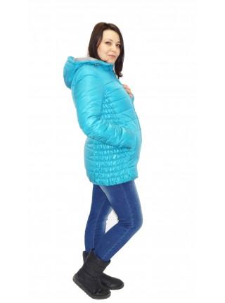 Куртка зимняя зеленая  для беременных